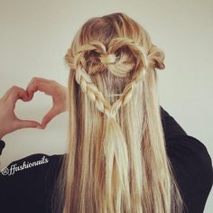#hairstyle for Valentines Day @ffashionails.