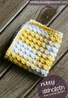 Nubby Dishcloth - Free Pattern! #freepattern #crochet #dishcloth