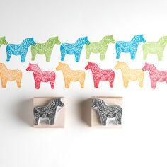 dala horse stamp