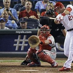 American League's Mike Trout, of the Los Angeles Angels, hits a single during the sixth inning of the MLB All-Star baseball game Tuesday, July 10, 2012, in Kansas City, Mo. (AP Photo/Charlie Neibergall)