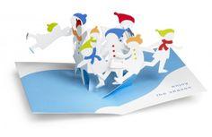 MoMA Sabuda Pop-Up Karten - Schlittschuhläufer