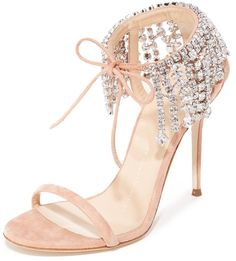Giuseppe Zanotti Ankle Strap Sandals - Tan Shoes