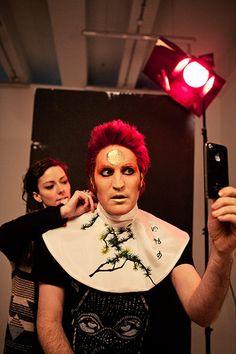 Noel Fielding - Glam: Noel Fielding being dressed as David Bowie