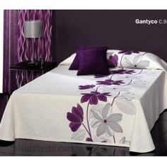 This Pin was discovered by ΝΙΚ Draps Design, Bed Sheet Painting Design, Sheet Curtains, Bed Cover Design, Designer Bed Sheets, Floral Bedspread, Cushion Embroidery, Fabric Paint Designs, Diy Pillows