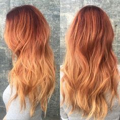 Transform your locks dramatically in this red and blonde ombre. Take a look at this how-to and the essentials listed for inspiration.