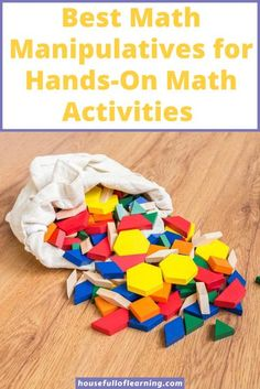 Best Math Manipulatives for Hands-on Activities | Help students in elementary and middle school concretely work with these must-have math manipulatives to boost their math understanding of concepts like addition, multiplication, fractions, probability, and multi-step problem solving all while having fun at the same time! #math #homeschool #handsonmath #handsonlearning Math Multiplication Games, Math Manipulatives, Fractions, Math Games, Math Math, Homeschool Kindergarten, Elementary Math, Homeschooling, Kids Learning Activities