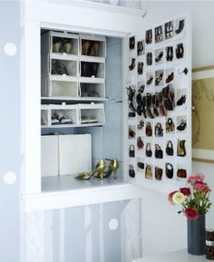 I don't care how long it takes, I will have this tiny hidden shoe closet in my home.