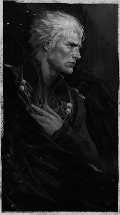 Devil May Cry 5 Vergil By lizzart-zardonicz Devil May Cry, Fantasy Inspiration, Character Inspiration, Character Portraits, Character Art, Vergil Dmc, Fantasy Art Men, Boy Art, Dramione