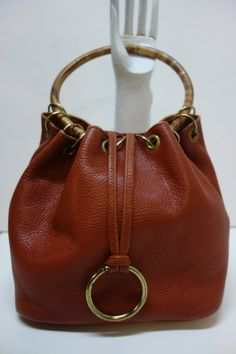 ROGER VAN S. Vintage 60s Light Brown Leather Bag by Vintageables