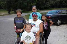 Angela Clark Fleener ( back) Austin Fleener (middle left) my son Roger Fleener Jr( middle) Madelayne Fleener (middle right) Cooper Fleener (front) Dennis Jager s grandson and his great grandkids