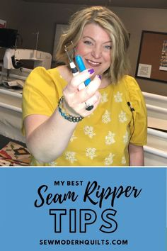How to use a seam ripper with tips, and a video too!