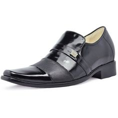 Black Men Dress Shoes height increasing elevator 7cm / 2.75inch