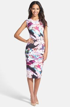 Nicole Miller Tidal Pleat Print Jersey Pencil Dress available at #Nordstrom via @jackiemcandrew