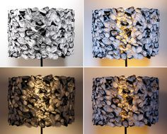 DIY: Ruffled Black and White Drum Shade (made from IKEA plastic bags) Large Plastic Bags, Recycled Plastic Bags, Plastic Grocery Bags, Recycled Lamp, Recycled Crafts, Recycling Facts, Recycling Logo, Garbage Recycling, Plastic Recycling