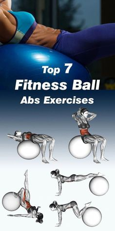 Previously you had a chance to see our recommendations for the top 10 abdominal exercises without equipment and top 10 abdominal exercises with equipment. This time around we turn to the top best fitness ball abs exercises (also known as a Swiss Ball Fitness Workouts, Lower Ab Workouts, Fun Workouts, Fitness Ball Exercises, Core Workouts, Exercise Ball Workouts, Fitness Hacks, Fitness Routines, Bootcamp Training