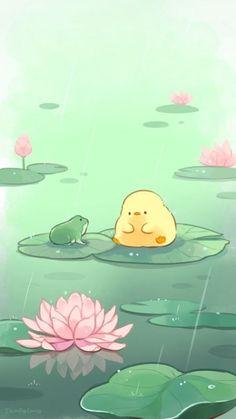 Cute Pastel Wallpaper, Anime Scenery Wallpaper, Cute Patterns Wallpaper, Cute Anime Wallpaper, Wallpaper Iphone Cute, Soft Wallpaper, Cute Little Drawings, Cute Kawaii Drawings, Cute Animal Drawings