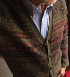"cargoblues: ""Fair Isle by Ralph Lauren, shirt by Brooks Brothers. """
