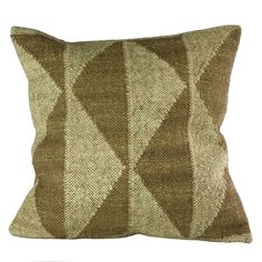 Slate and White Signal Flag Pillow