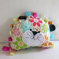 Lilly the Lion Doll Pillow with ribbon tabs by TreasuresByTruitt