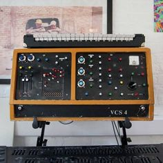 From the official Ninja Tune Facebook page:  Throwback! This is an extremely rare EMS VCS4 analogue synth from 1969 belonging to Matt Black of Coldcut, it was the first one he ever used. The model never went into production and there were just two prototypes...   Download a bundle of sounds Matt Black created with it on their Facebook page.