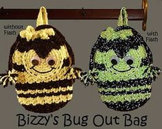 Bizzy's Bug Out Bag - Free by Stacy Rhoads of Too Yarn Cute / Bugs Part 2 - Animal Crochet Pattern Round Up - Rebeckah's Treasures
