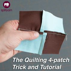 The Quilting 4-Patch tutorial on Splityarn.com