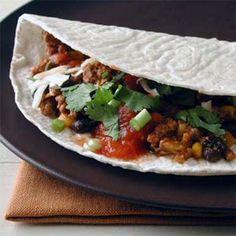 Tex-Mex Beef Tacos   MyRecipes.com - corn tortilla