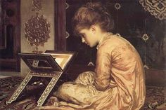 At A Reading Desk, by Lord Frederick Leighton