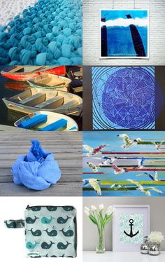 Blue waves by Eleonora Petrova on Etsy--Pinned with TreasuryPin.com