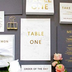 Keep within the stylish marble theme and invest in some super cute table numbers just like these pastel and gold ones. The faint marble pattern is subtle and very modern looking, making it a great choice for trendy couples who want reception décor that is contemporary and simplistic.