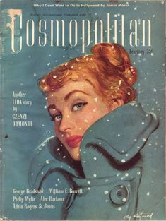 1948 Cosmopolitan Magazine Cover Only Coby Whitmore Illustration Old Magazines, Vintage Magazines, Vintage Advertisements, Vintage Ads, Vintage Glamour, Pin Up, Magazine Art, Magazine Covers, Life Magazine