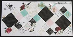 Two Page Scrapbook Layout Live Beautifully Love Prom Wedding Baptism Us Together Family #ctmhlivebeautifully #pagekits #scrapbooking #scraptabulousdesigns #nsm2017