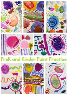 Give PreK children lots of opportunity to free-paint. The more they practice on their own terms, the more they will discover. Be gentle wit...