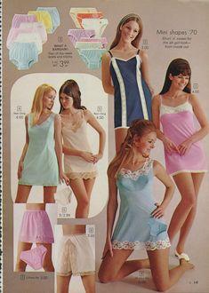 Vintage lingerie for teenage girls Retro Advertising, Vintage Advertisements, Vintage Ads, Lingerie Catalog, Vintage Nightgown, Retro Lingerie, Vintage Handbags, Vintage Colors, Night Gown