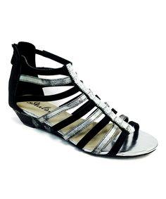 Look what I found on #zulily! Bolaro Black & Pewter Gladiator Sandal by Bolaro #zulilyfinds