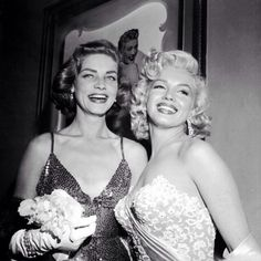 Instagram media thedailymonroe - #MarilynMonroe and Lauren Bacall attend the premiere of the movie 'How To Marry A Millionaire' in Los Angeles, California, November 4, 1953.