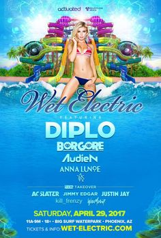 Gear up this summer for a truly unique experience combining music, waterslides and an unbelievable vibe! After making a big splash announcing electronic heavyweight,Diplo, as the headliner tothe 7th edition ofone of the world's largest waterpark music festivals,WetElectric continues to make waves by introducing Borgore, Audien, Anna Lunoe and Yookie to the lineup. The original …