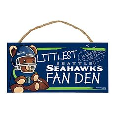 NFL Seattle Seahawks Hardboard Wood Signs with Rope 5 x 10Inch Multi * See this great product.