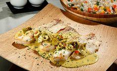 Receta de Tilapia mediterránea - PRONACA Eggs, Breakfast, Recipes, Food, Seafood, Food Recipes, Foods, Morning Coffee, Meal