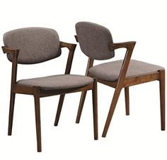 romm midcentury modern dining chairs feature a solid wood chairs feature soft upholstered fabric and a curved back for supreme comfort walnut