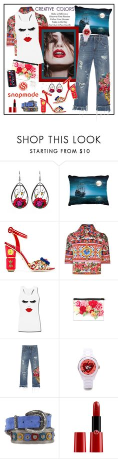 """SNAPMADE 12."" by carola-corana ❤ liked on Polyvore featuring Dolce&Gabbana, Nanni, WALL and Giorgio Armani"