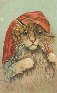 Tarot Museum Facebook - gypsy cat tarot card