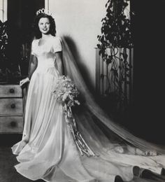 Shirley Temple @ her wedding in 1945