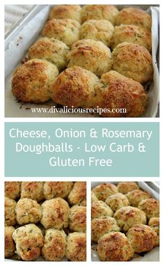 Chees, onion and rosemary dough balls that are low carb and gluten ...