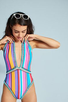 Nanette Lepore Sayulita Serape Embroidered One-Piece Swimsuit #ad #AnthroFave #AnthroRegistry Anthropologie