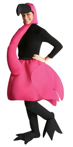 Rasta Imposta Flamingo Costume, Pink, One Size: This is the Halloween costume or party costume for the person who really wants to be different! Costume Includes Flamingo Body with Head and Neck. Also includes of full length leggings with feet! Flamingo Halloween Costume, Bird Costume, Halloween Costumes For Teens, Costume Shop, Adult Halloween, Costume Dress, Adult Costumes, Costumes For Women, Cowgirl Costume