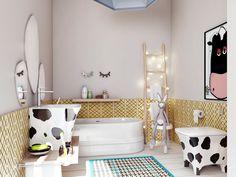 """Пейте, дети ,молоко...., автор Елена Турченкова , конкурс """"ванная комната: рациональная италия""""   PINWIN - конкурсы для архитекторов, дизайнеров, декораторов"""