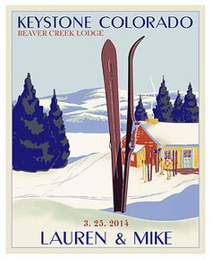 remember your last ski run with this personalized vintage ski poster $38
