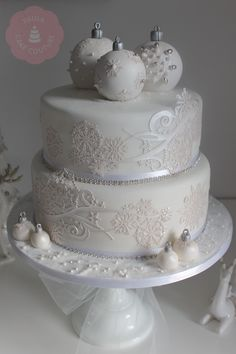 Beautiful Winter Design (Cake Design) Christmas Cakes, Xmas Cakes, Santa Cake