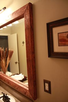 ~DIY Bathroom Framed Mirror~